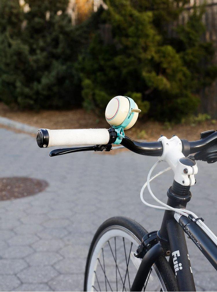 Žlto-tyrkysový zvonček na bicykel Kikkerland