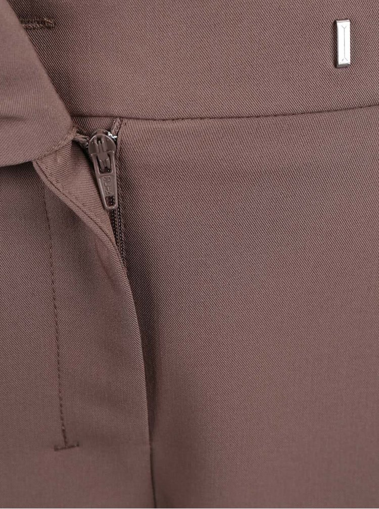 Hnědé osminkové kalhoty Dorothy Perkins