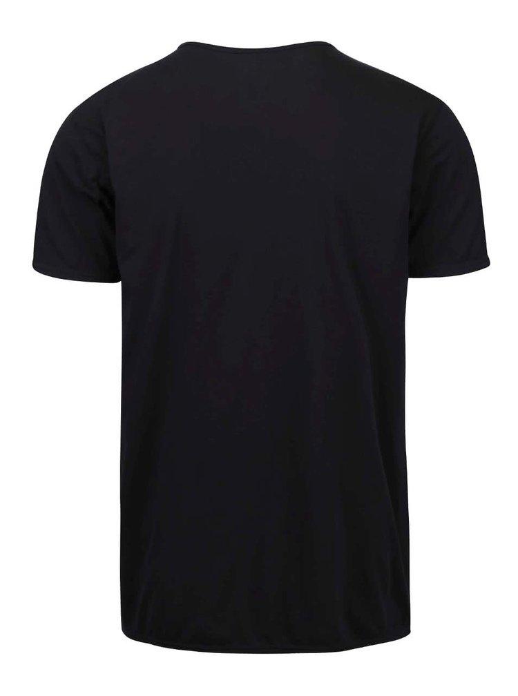 Černé triko s knoflíčky !Solid Sinan