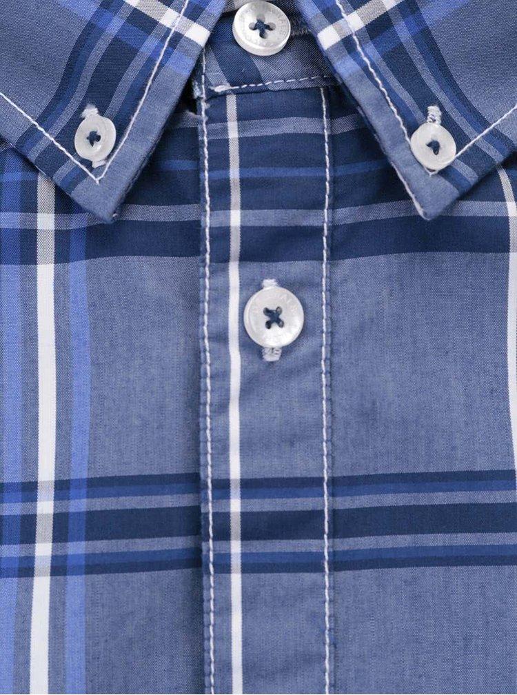 Tmavě modrá kostkovaná košile Tailored & Originals Fullham