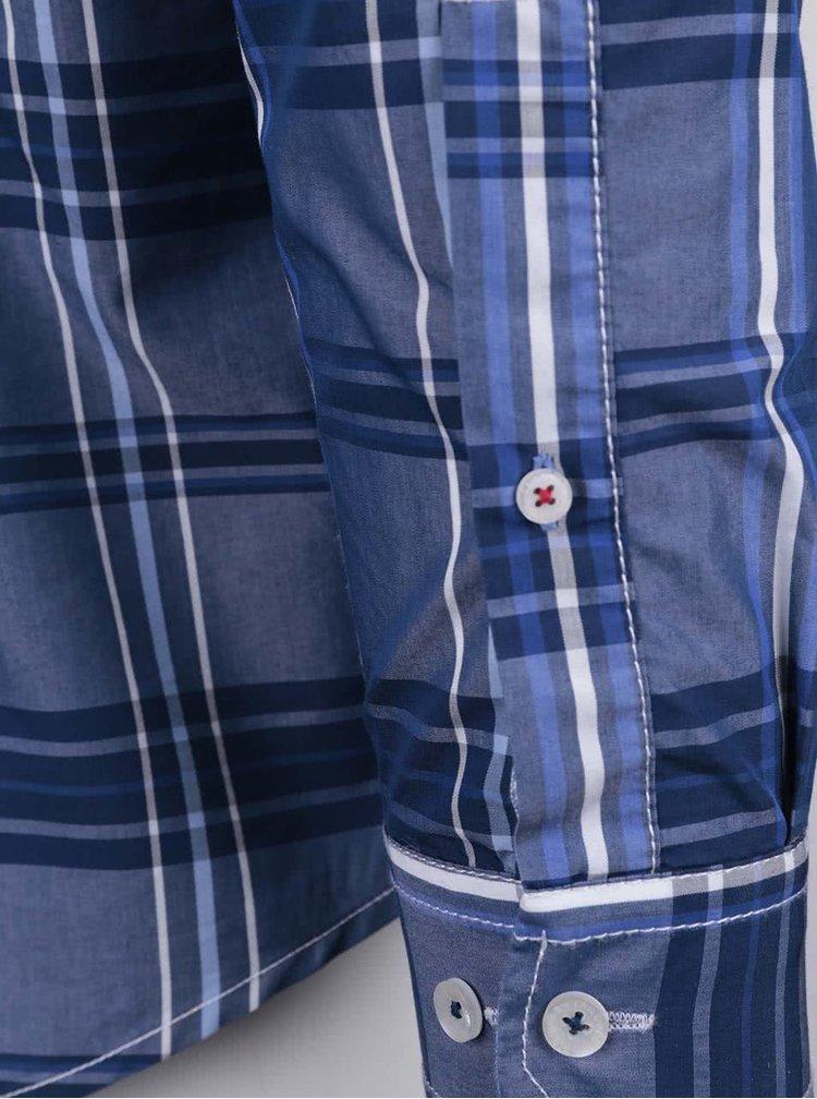 Cămașă de bărbați Tailored & Originals Fullham albastru închis în carouri