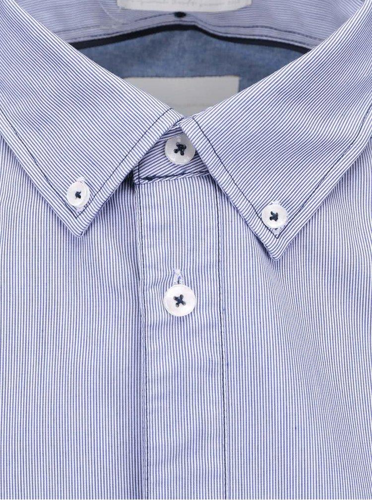 Modrá pruhovaná košile Tailored & Originals Fullham