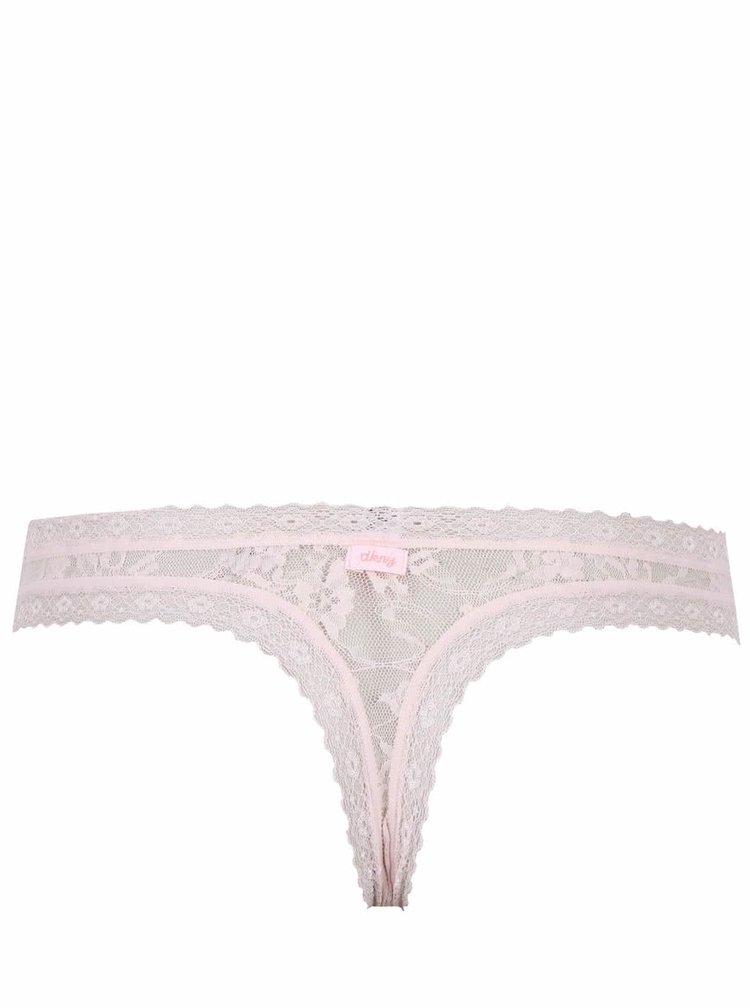 Chiloți tanga DKNY roz