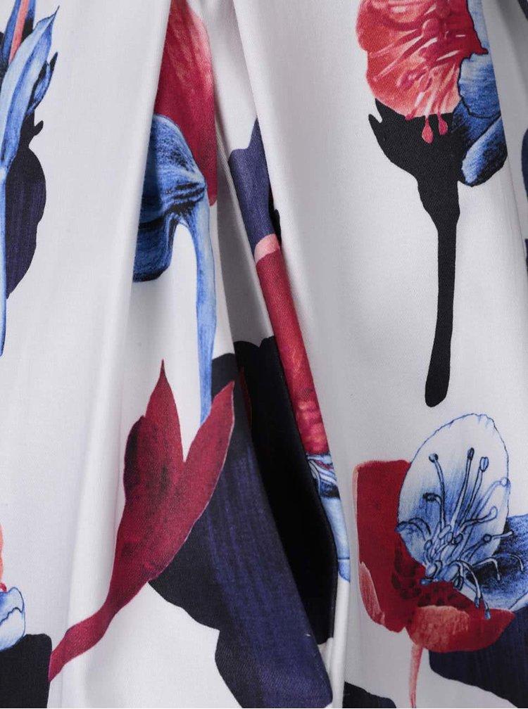 Rochie albă cu imprimeu floral Closet