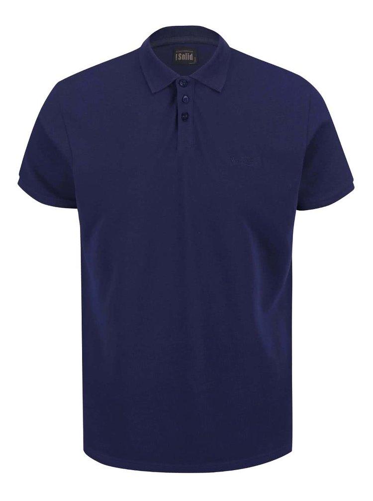 Tmavě modré polo triko !Solid Chris