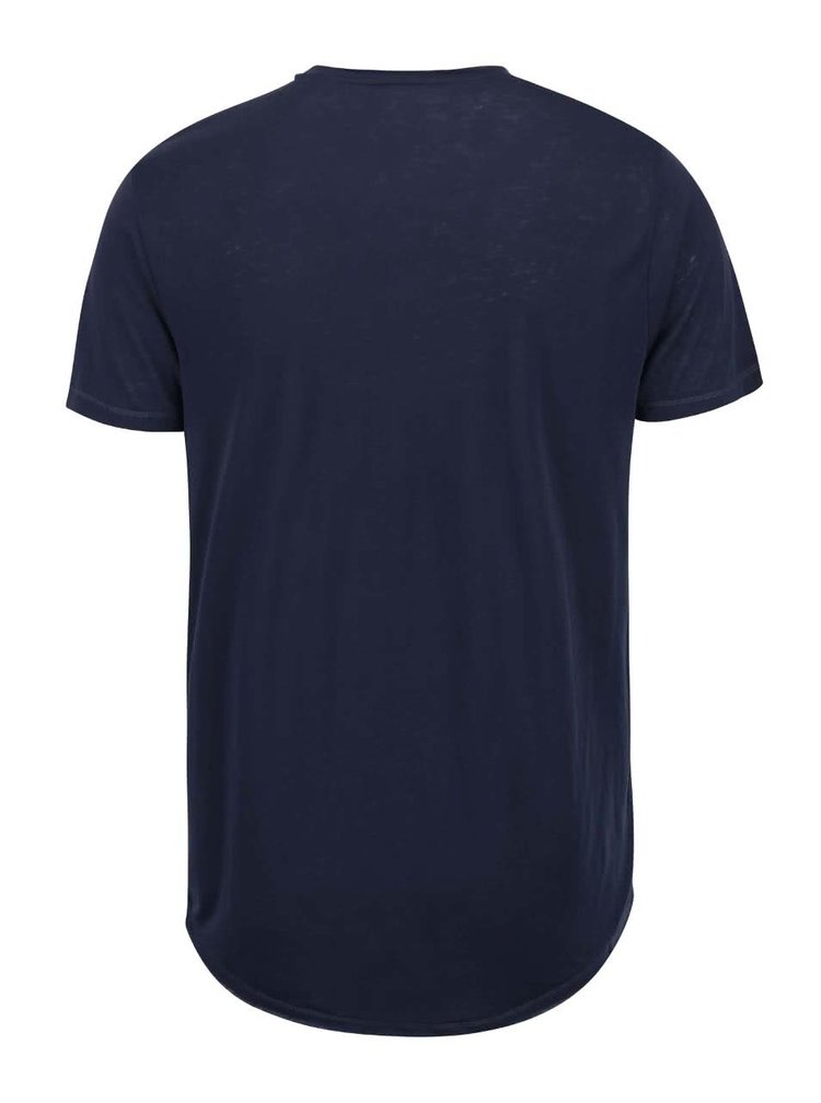 Tmavomodré tričko s gombíkmi !Solid Barron