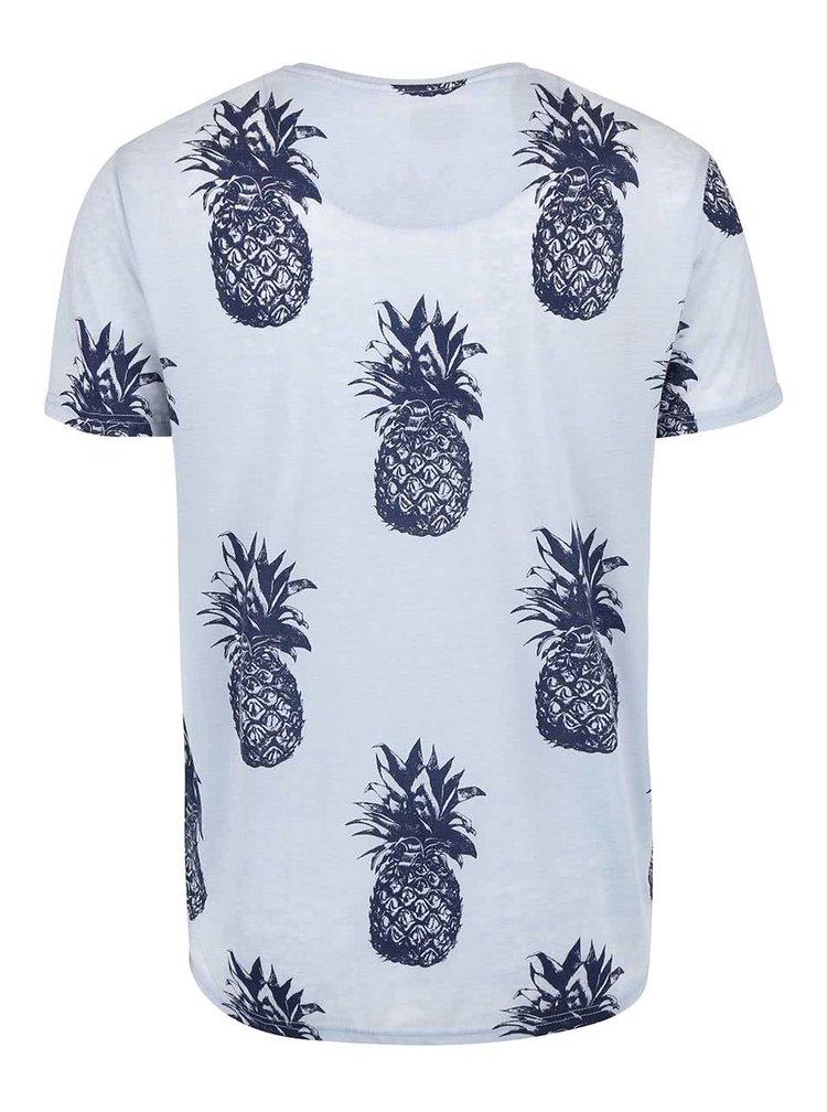 Svetlomodré tričko s potlačou !Solid Balin