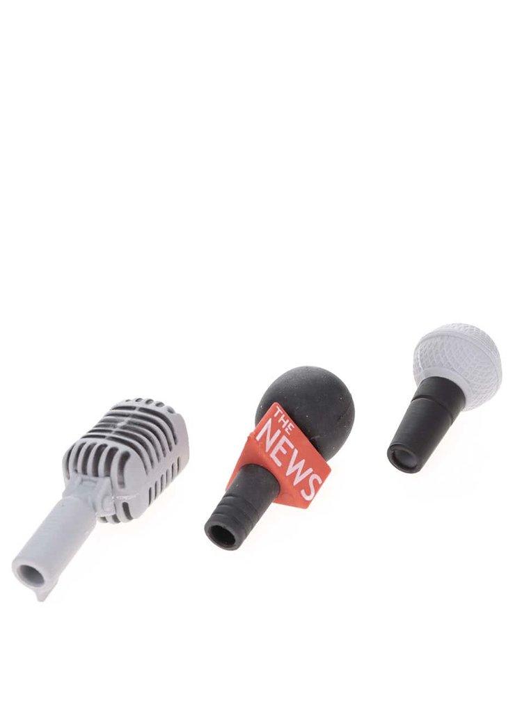 Set de 3 gume de creion Kikkerland - microfon