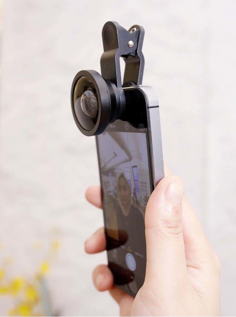 Súprava troch čiernych šošoviek na telefón Kikkerland