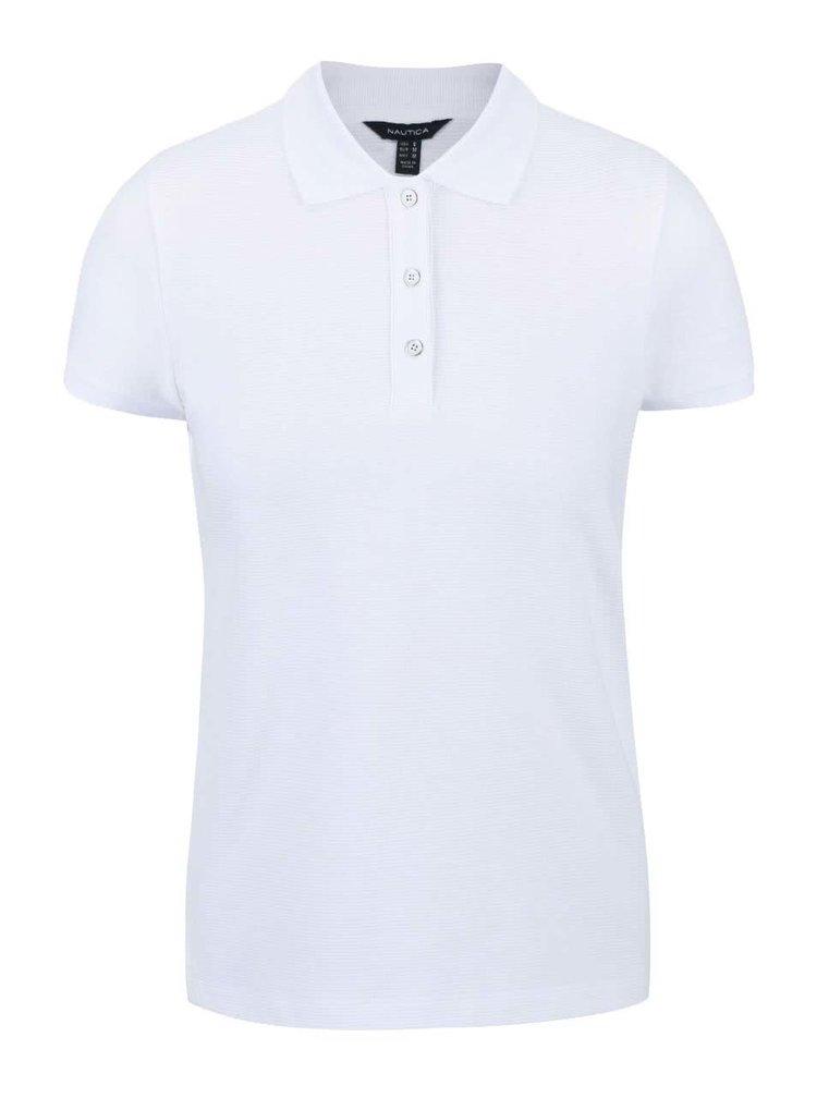 Bílé žebrované dámské polo tričko Nautica