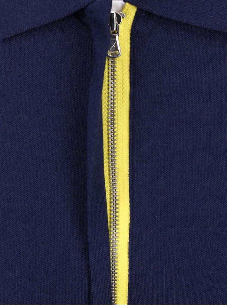 Tmavomodrá dámska polokošeľa na zips so žltým detailom Nautica