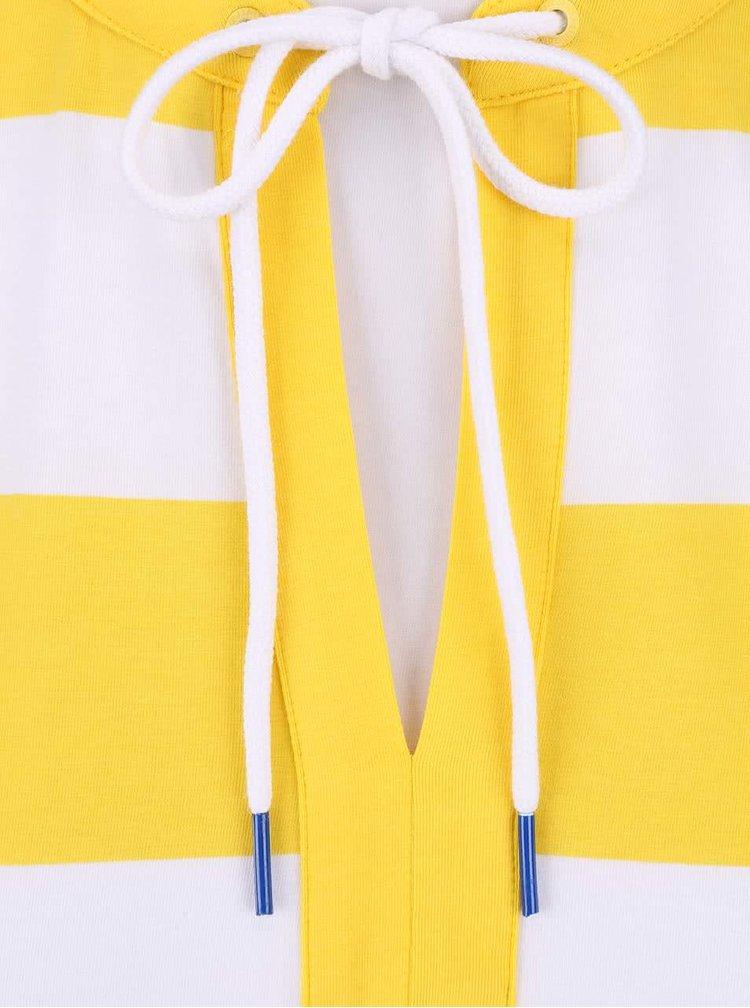 Bílo-žluté dámské pruhované tílko Nautica
