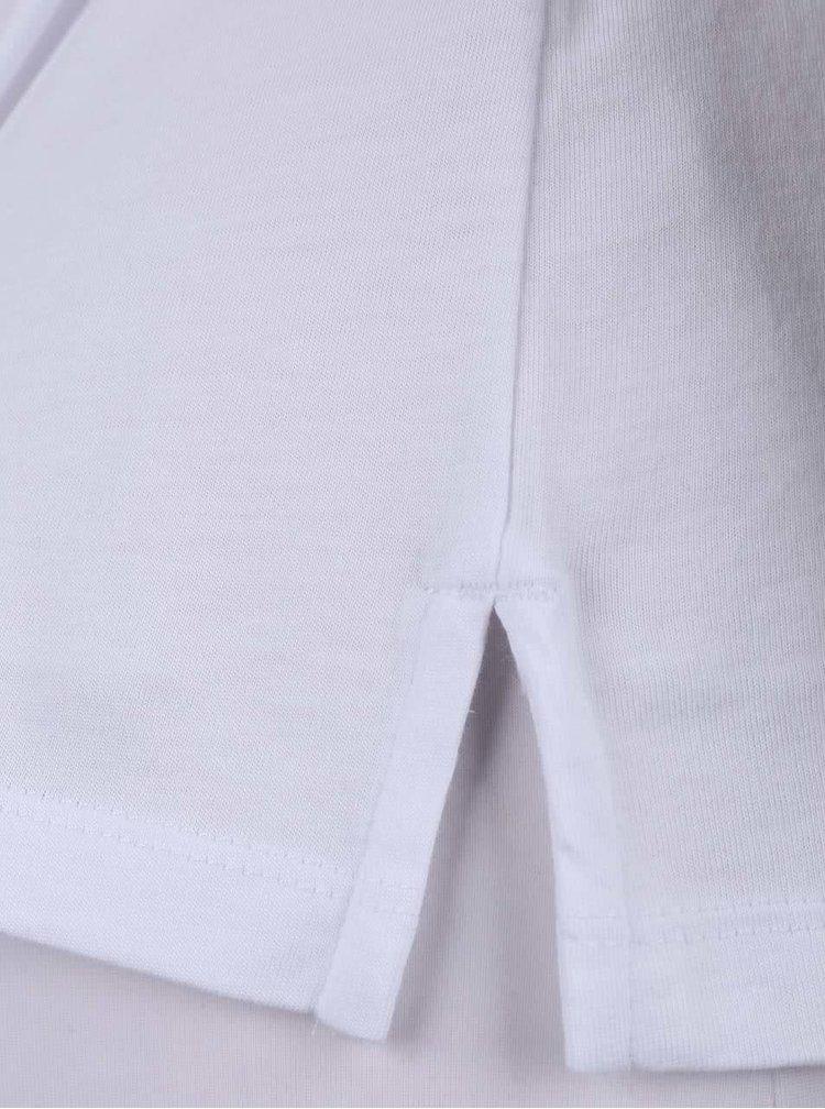 Biele dámske tričko s véčkovým výstrihom a aplikáciou Nautica