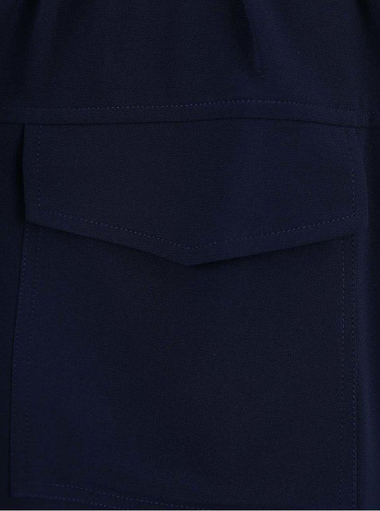Tmavomodré šaty s 3/4 rukávmi a zaväzovaním v páse Nautica