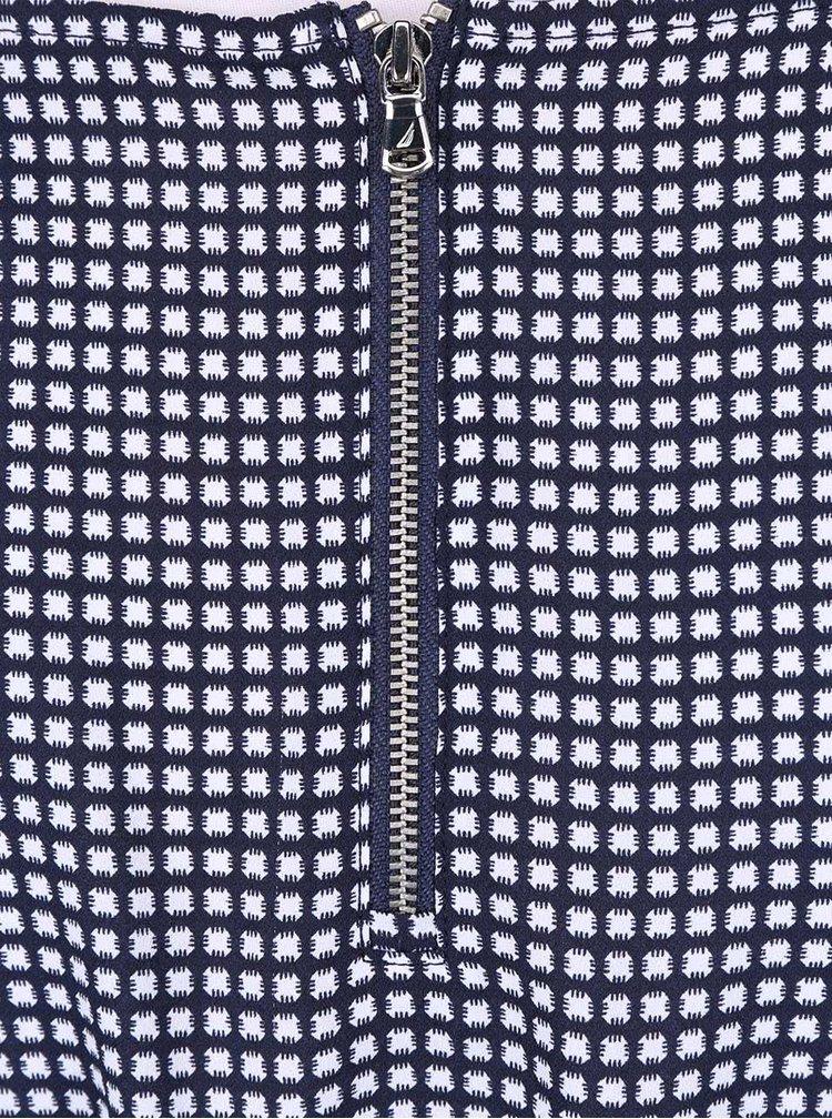 Bielo-modré vzorované šaty Nautica