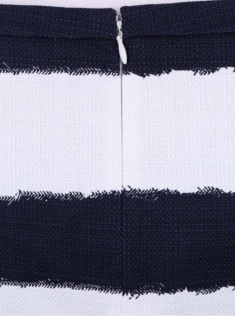 Bielo-modrá pruhovaná sukňa s vreckami Nautica