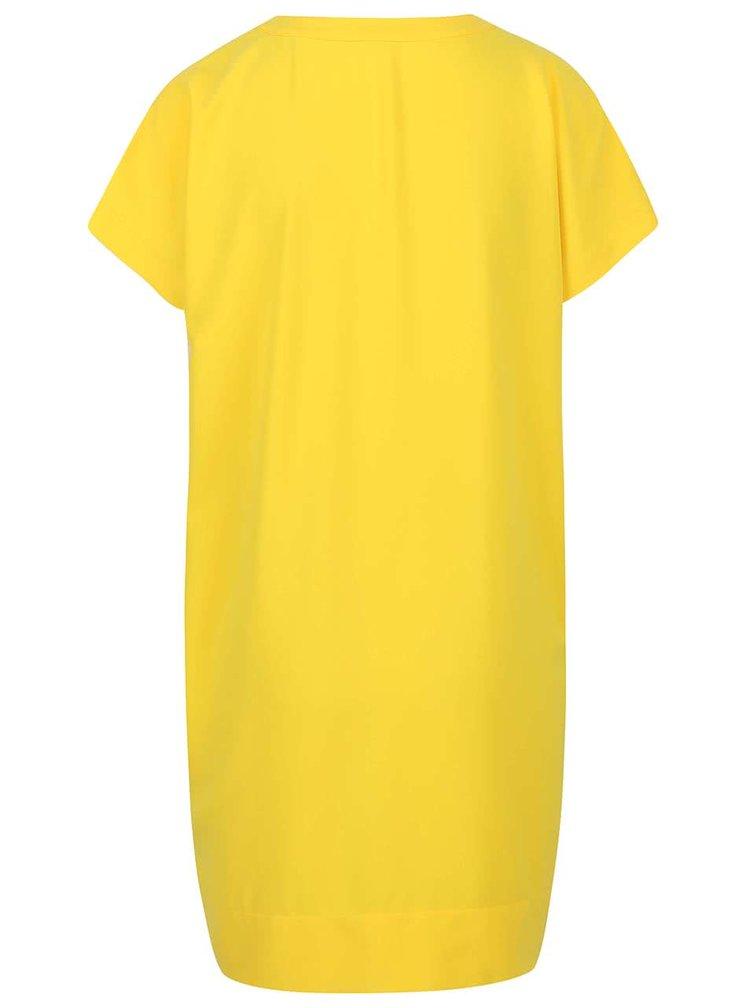 Žlté voľnejšie šaty s vreckami Nautica