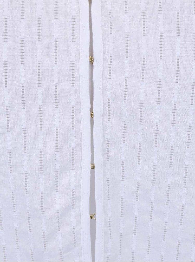 Biela vzorovaná blúzka s 3/4 rukávmi Nautica