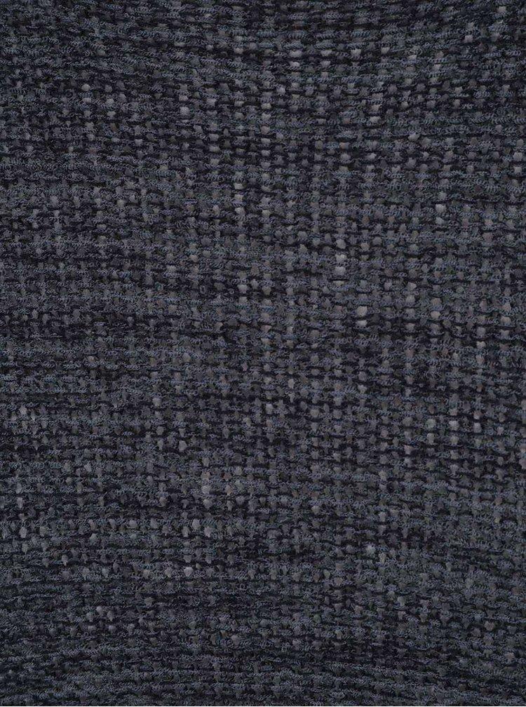 Tmavě modrý žíhaný asymetrický svetr ONLY Cicely