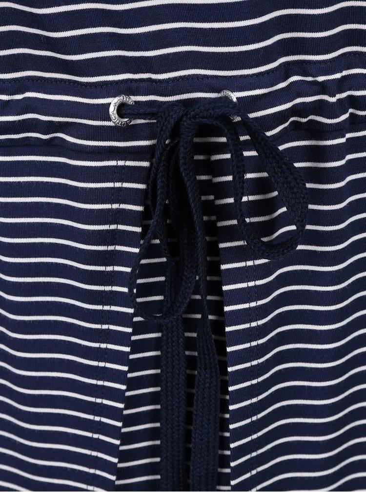 Bílo-modré pruhované šaty se stažením v pase Nautica
