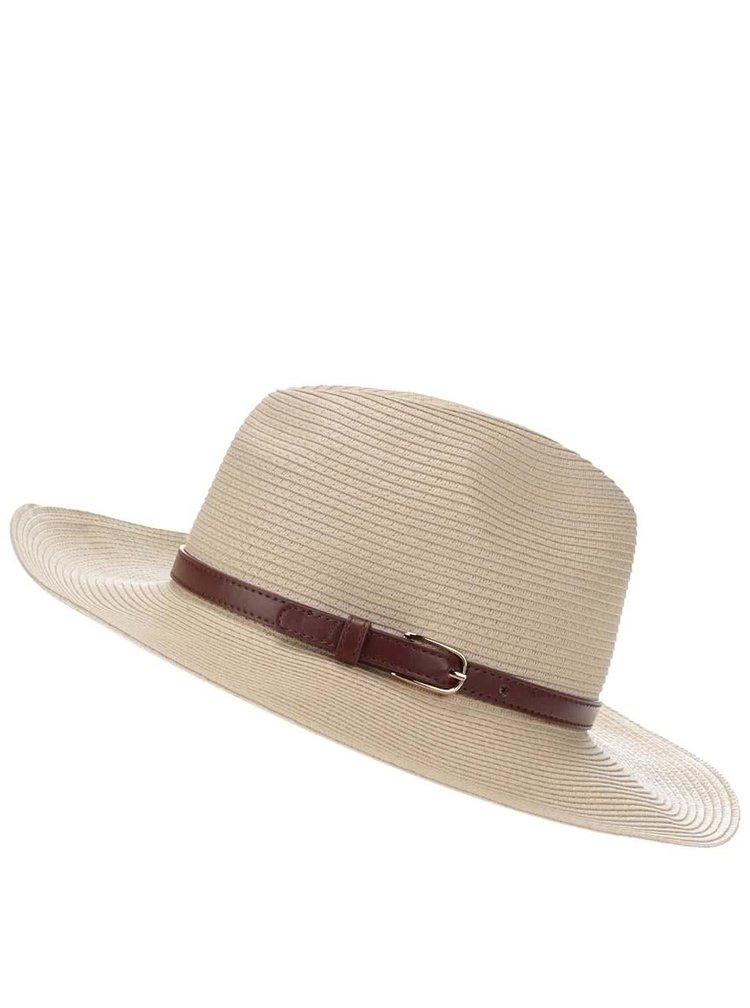 Krémový slamený klobúk Pieces Ballu