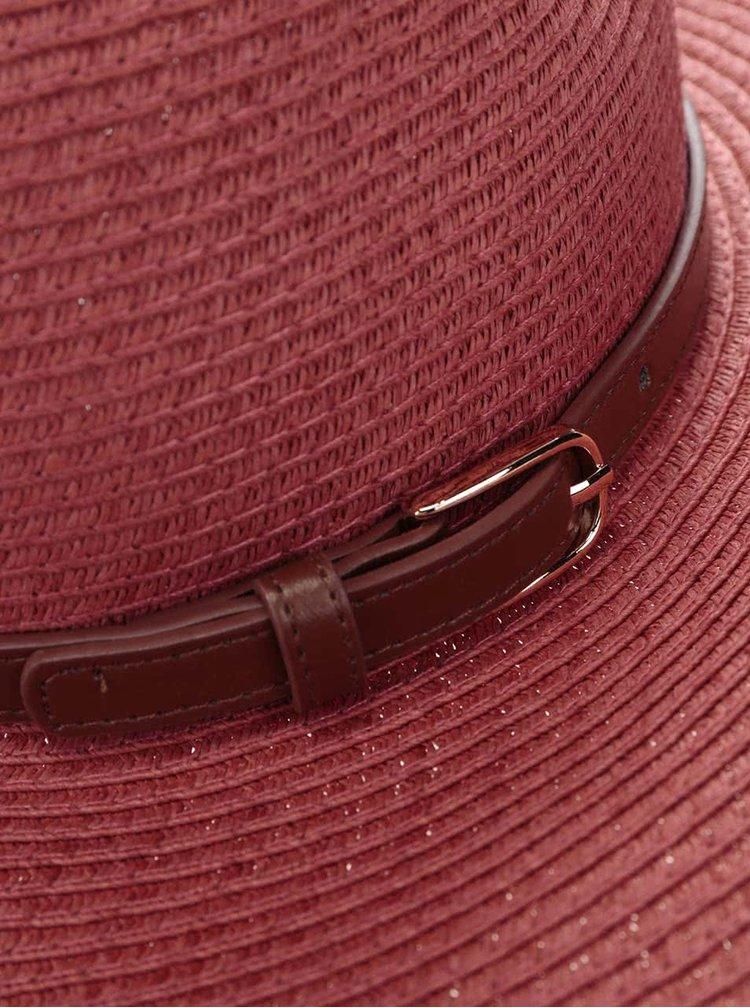 Pălărie Pieces Ballu vișiniu deschis