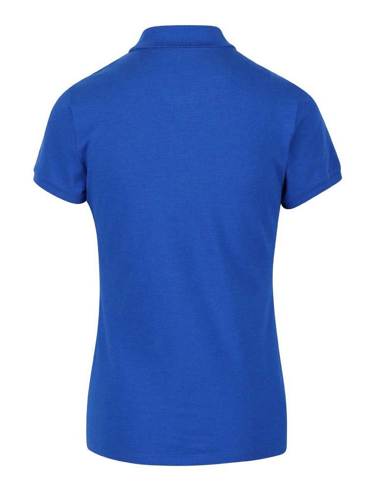 Modré dámské polo tričko na zip se žlutým detailem Nautica
