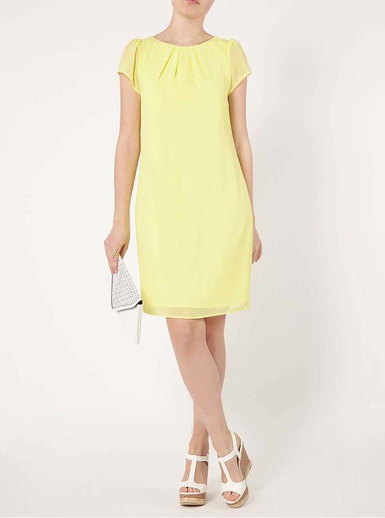 Žlté voľné šaty s krátkym rukávom Dorothy Perkins