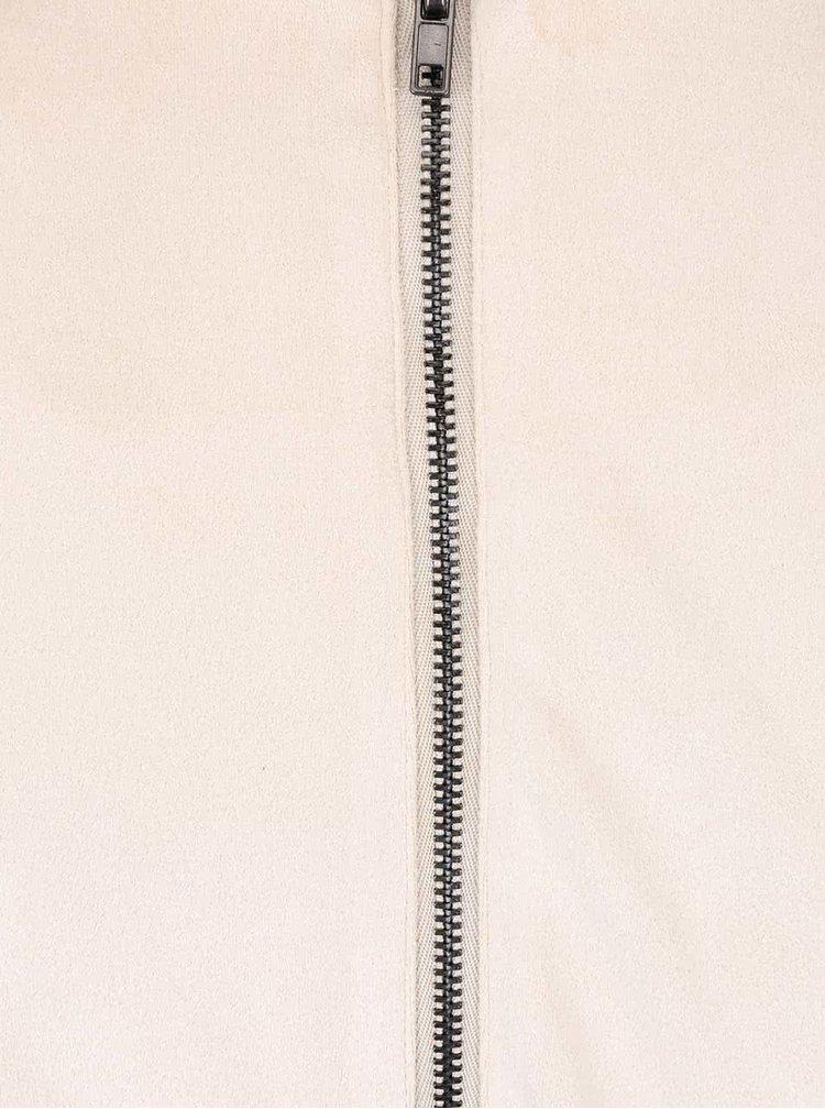 Krémové šaty v semišové úpravě SisterS Point Sera