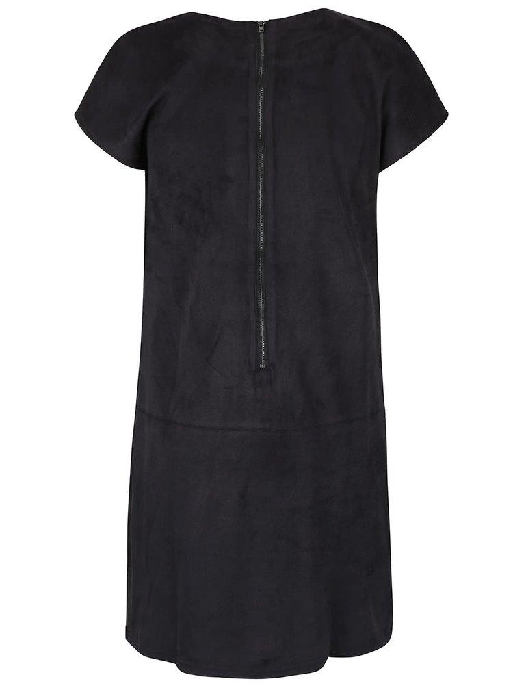 Černé šaty v semišové úpravě SisterS Point Sera