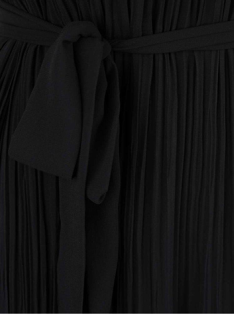 Černé plisované šaty SisterS Point Ejner
