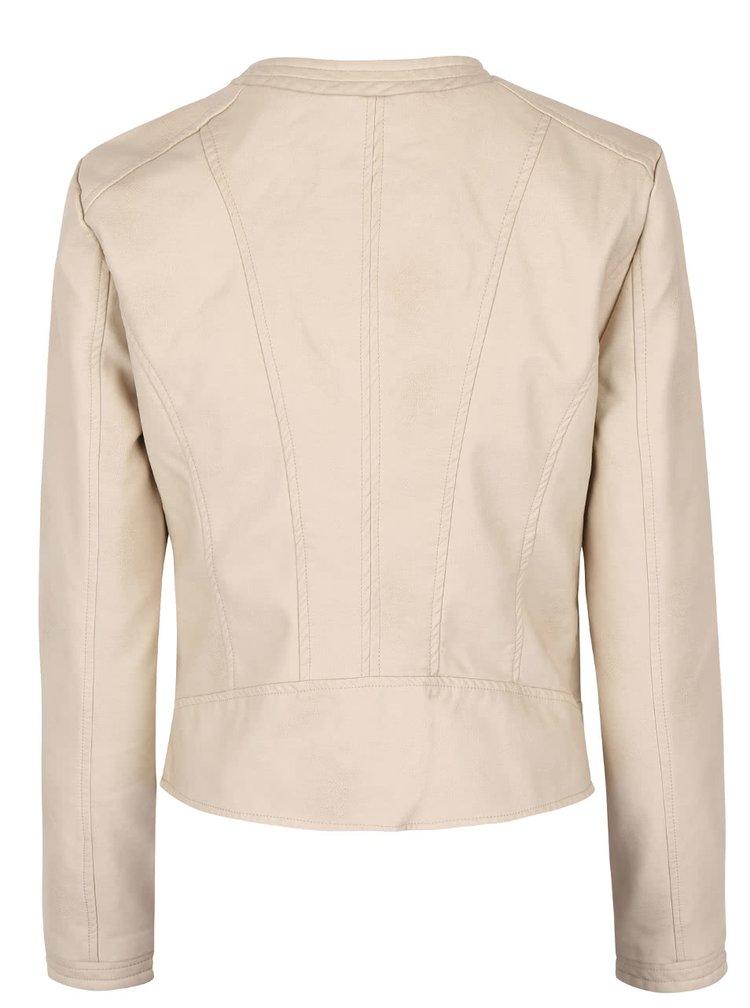 Béžová koženková bunda SisterS Point Debo
