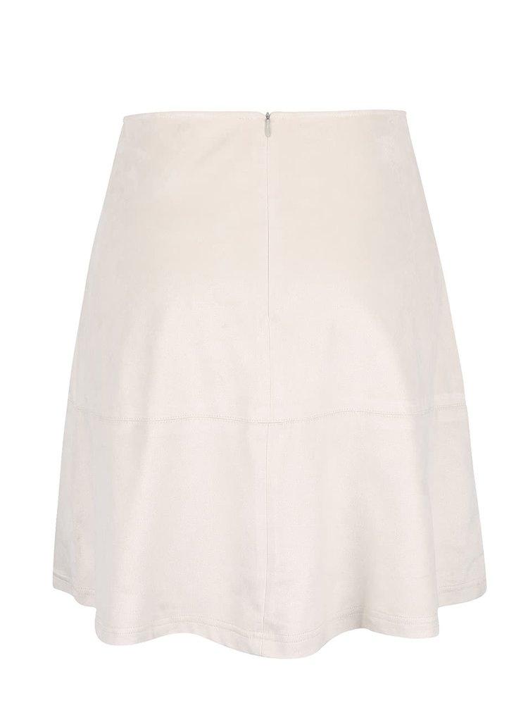 Krémová sukně v semišové úpravě SisterS Point Sera