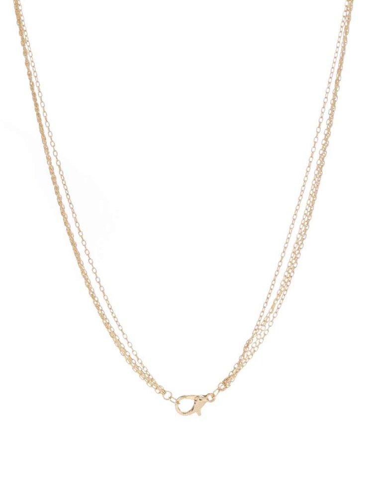 Dvojitý náhrdelník v zlatej farbe Pieces Beol