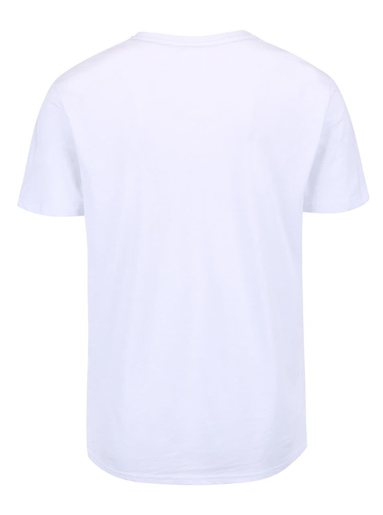 Bílé triko s plážovým potiskem Burton Menswear London