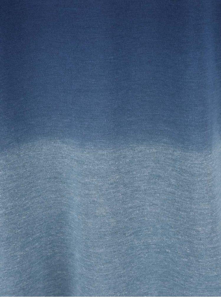Modré tričko s ombre efektom Burton Menswear London