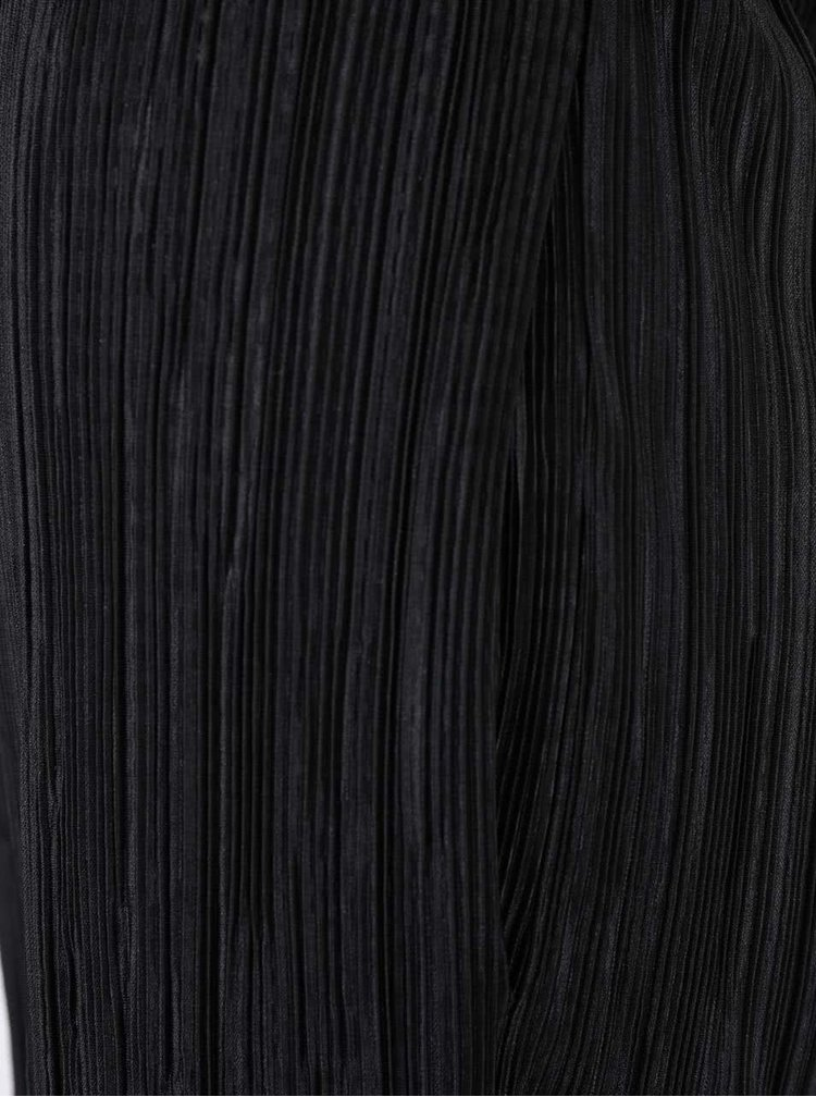Čierne plisované nohavice SisterS Point Nicca