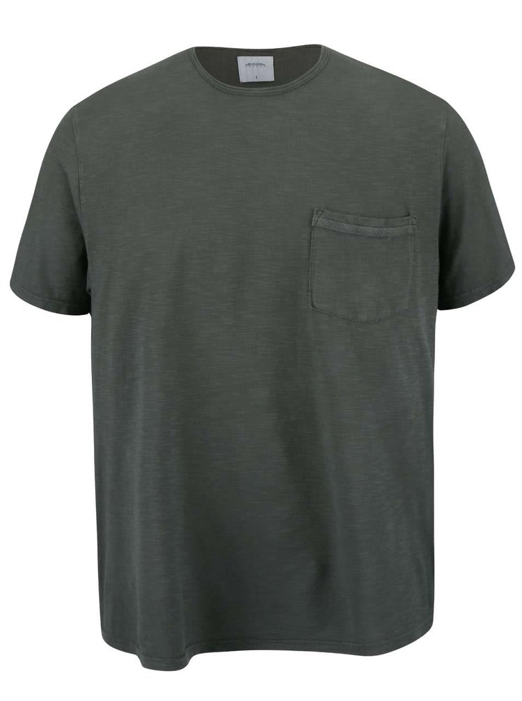 Zelené tričko s vreckom Burton Menswear London