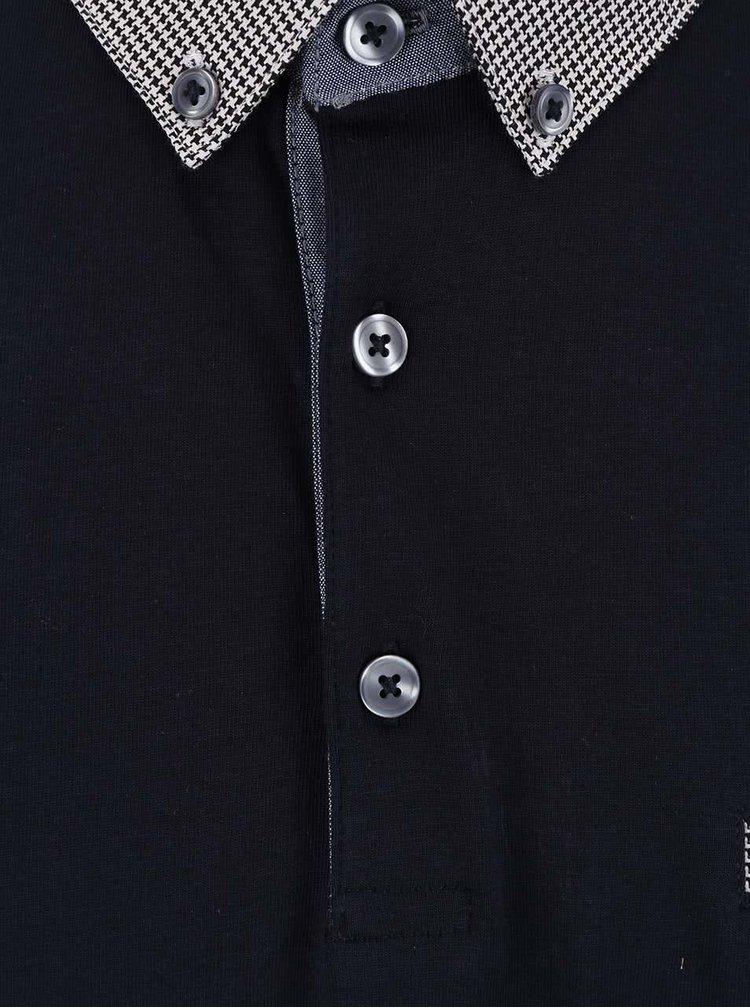 Tricou polo Burton Menswear London albastru inchis