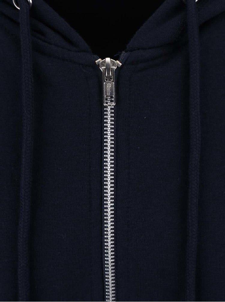 Tmavě modrá mikina s kapucí Burton Menswear London