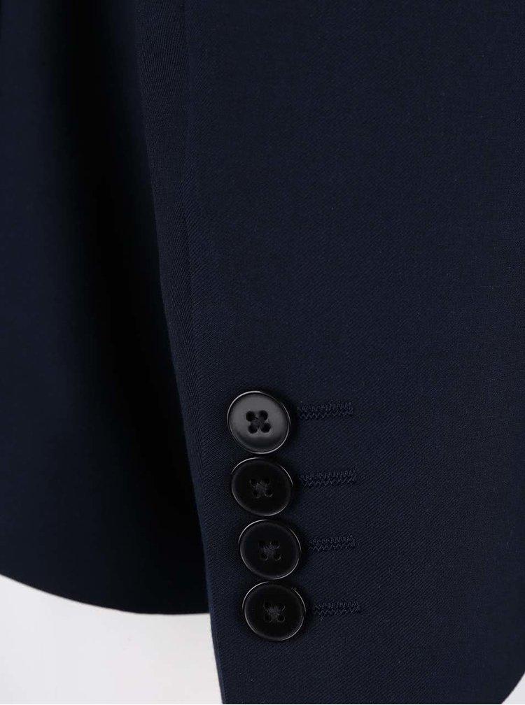 Sacou slim fit Burton Menswear London albastru inchis
