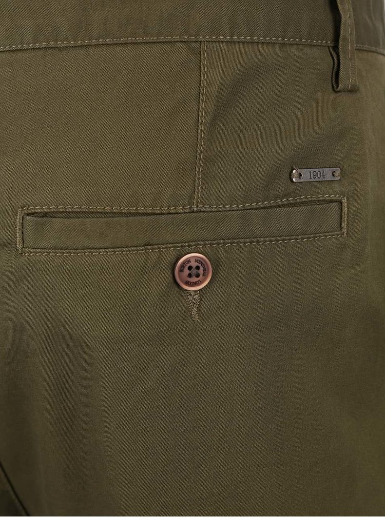 Khaki chino kraťasy Burton Menswear London