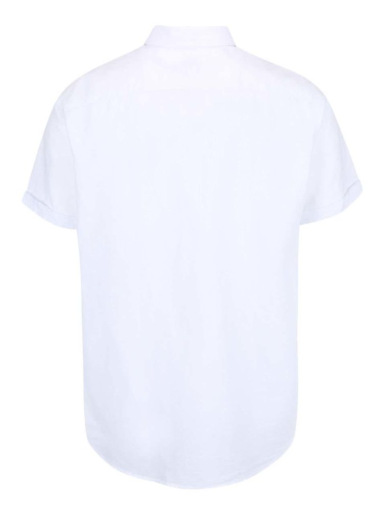 Bílá košile s krátkým rukávem Selected Homme Two Linus