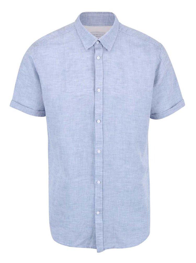 Modrá košile s krátkým rukávem Selected Homme Two Linus