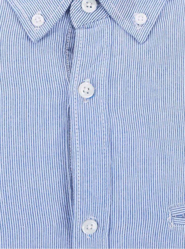Svetlomodrá pruhovaná košeľa Burton Menswear London