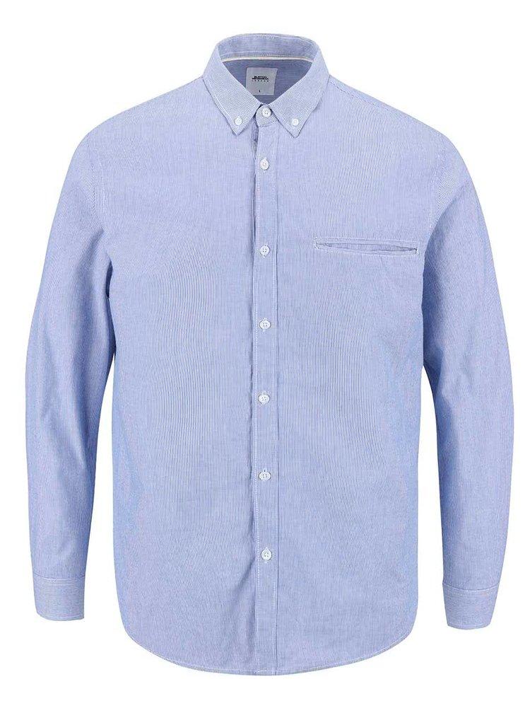 Světle modrá pruhovaná košile Burton Menswear London