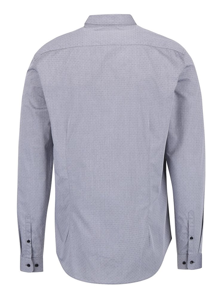 Šedá vzorovaná košile Burton Menswear London