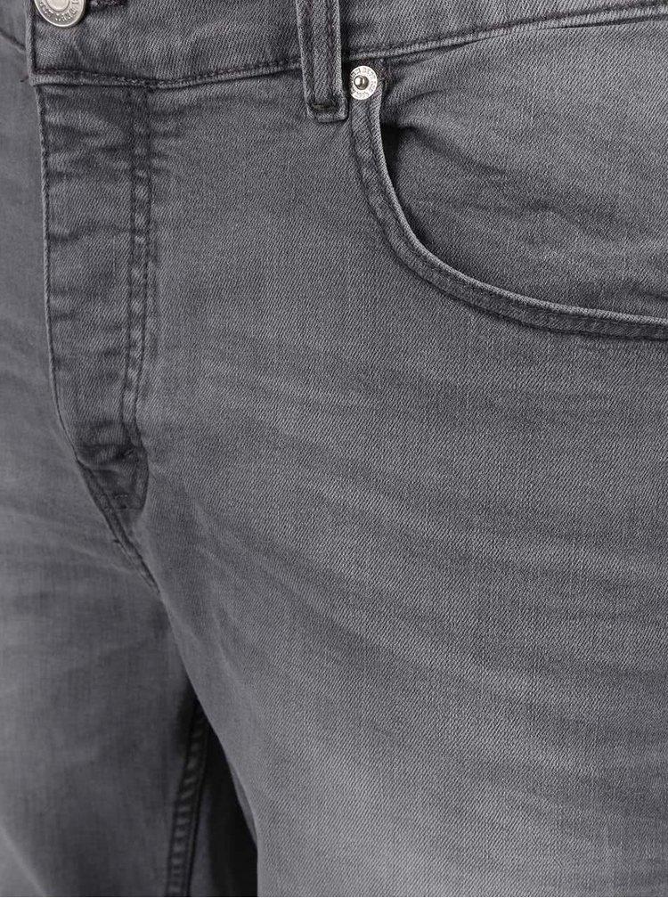 Sivé rifľové kraťasy Burton Menswear London
