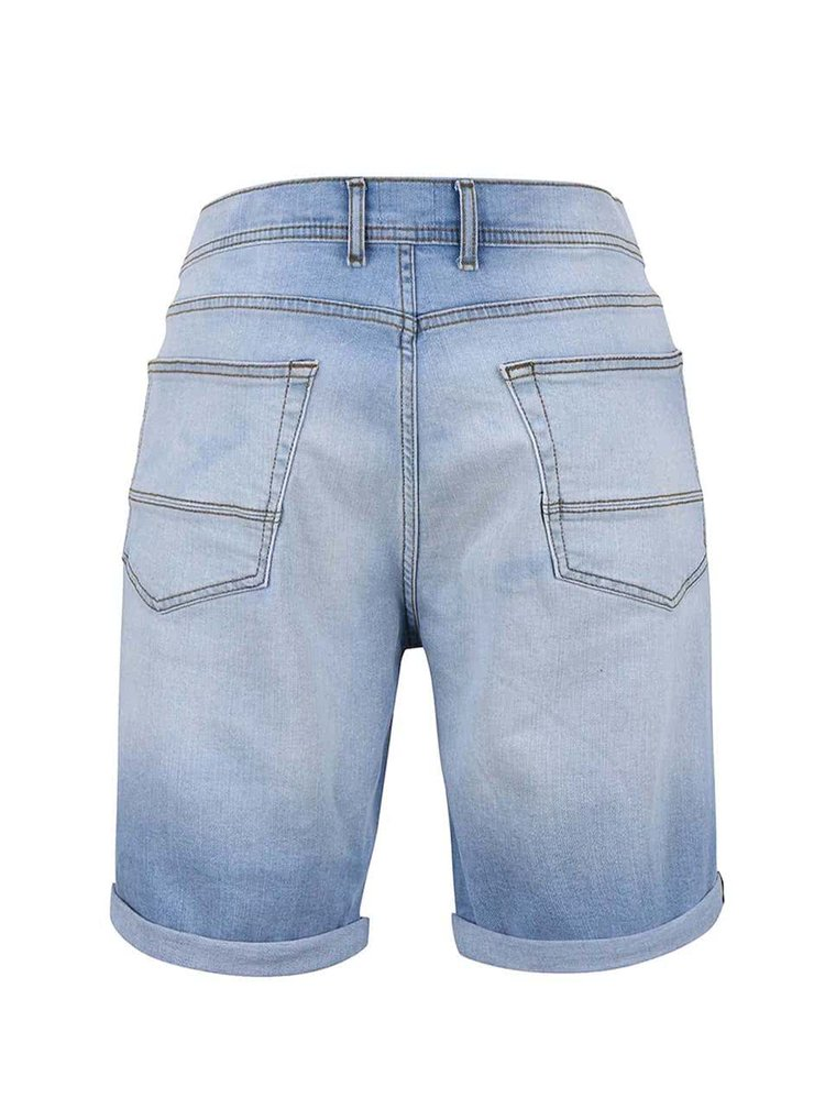 Pantaloni scurti din denim Burton Menswear London albastru deschis