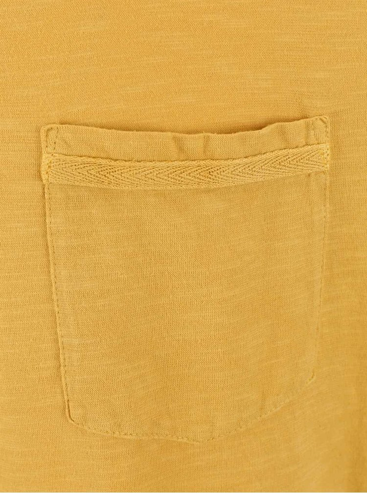 Žluté triko s kapsou Burton Menswear London